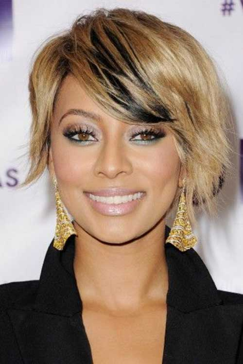 Short Bob Hairstyles with Side Swept Bangs-14
