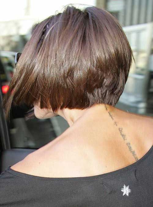 Back View of Victoria Beckham Short Bob Cut