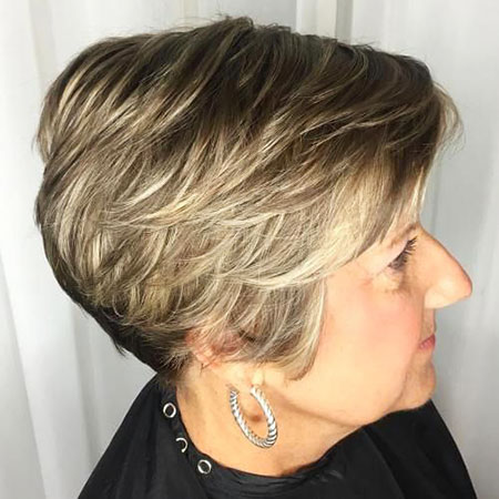 Classy Layered Pixie, Pixie Layered Older Women