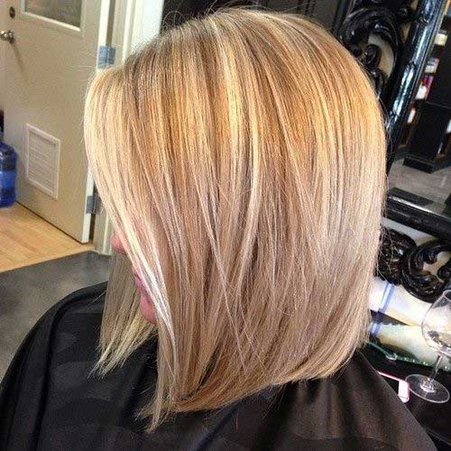 Long Angled Bobs Style