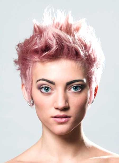 Short Pointy Pink Hair