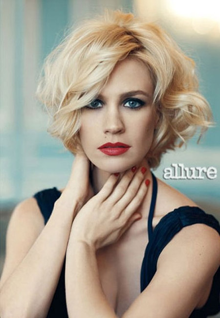 Asymmetric Bob Cut by January Jones