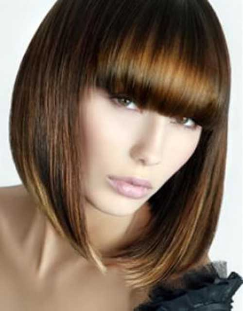 Chinese Bob with Blunt Bangs Cut