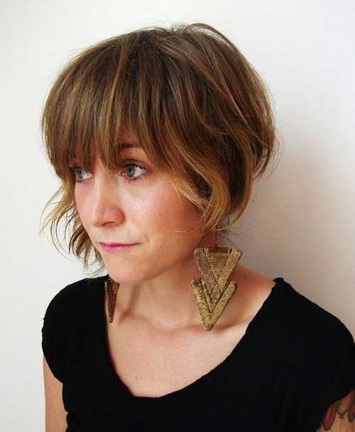 Asymmetrical Bob Hairstyles with Fringe