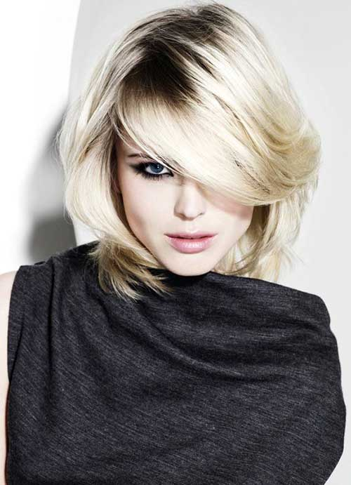 Best Long Layered Bob with Bangs