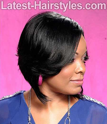 Side Swept Bob Hairstyle for Black Women