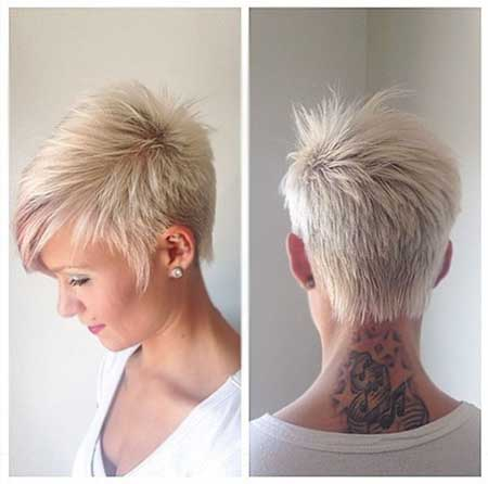 Short Pixie Hairstyle with Long Spikes Trend
