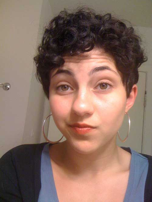 Curly Hair Pixie Cut