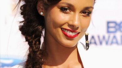 Bild von Alicia Keys lange Frisur: French Braid