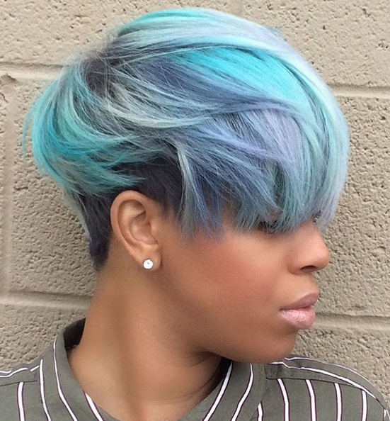 Pastels Hair Style Designs - Short Hair Cuts for Thick Hair