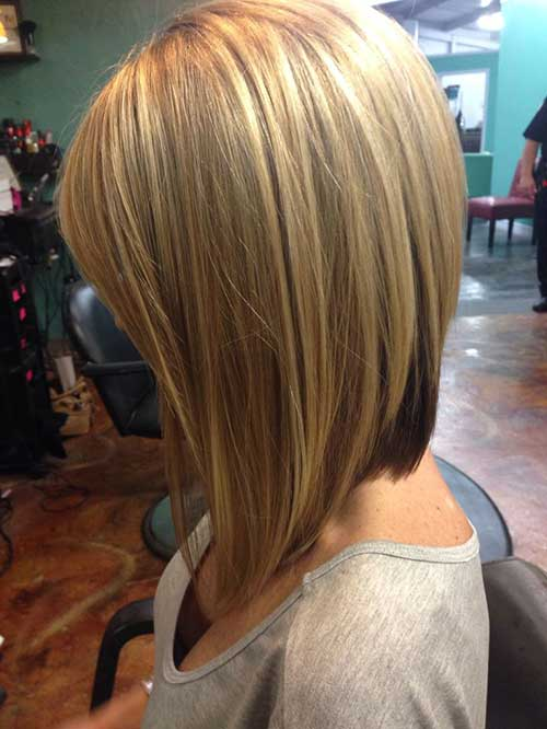 Layered Long Inverted Bob Hairstyles