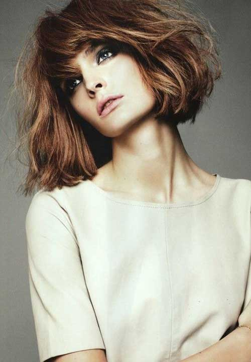 Layered Bob Hairstyles for Thick Wavy Hair