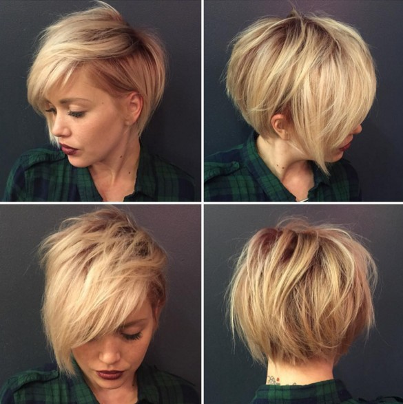 Messy, Shaggy Hairstyle for Short Hair - Short Haircuts 2018
