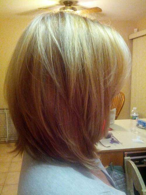 Long Layered Straight Bobs