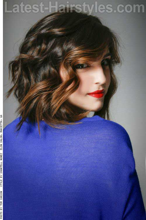 Balyaged Short Hairstyles for Wavy Fine Hair