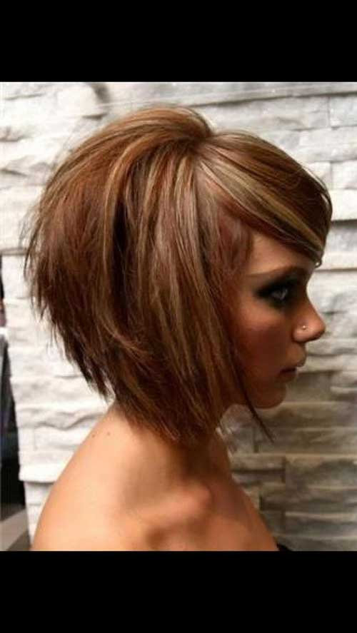 Layered Short Haircuts for Round Faces-10