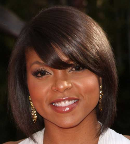 Long Bob Hairstyles for Black Women-17