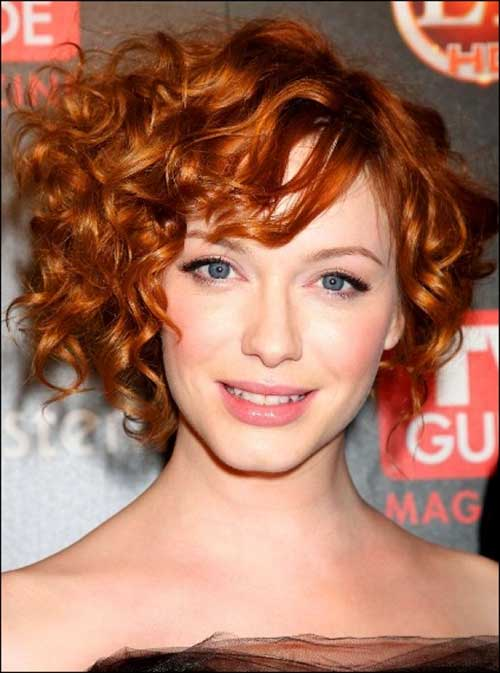 Short Curly Red Bob Hairstyles