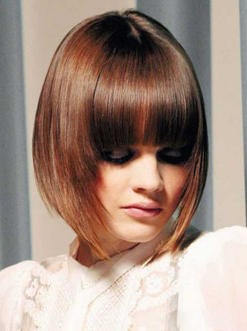 Best Graduated Bob Hair with Bangs