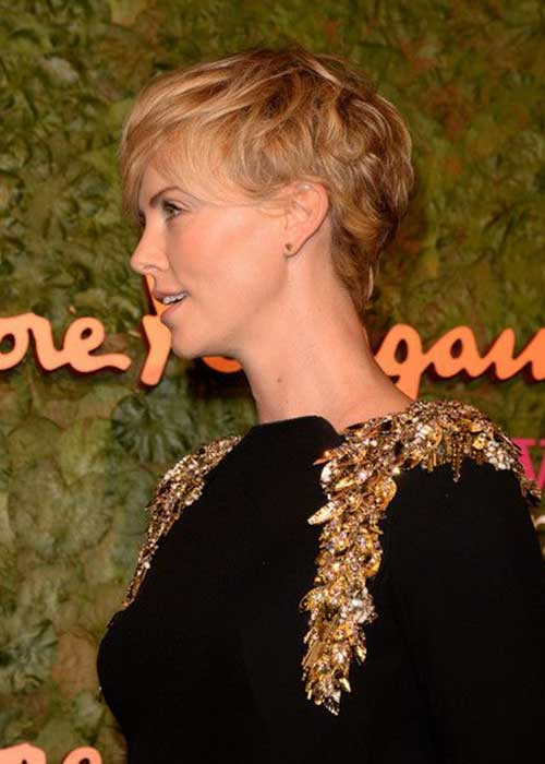 Charlize Theron Pixie Cut