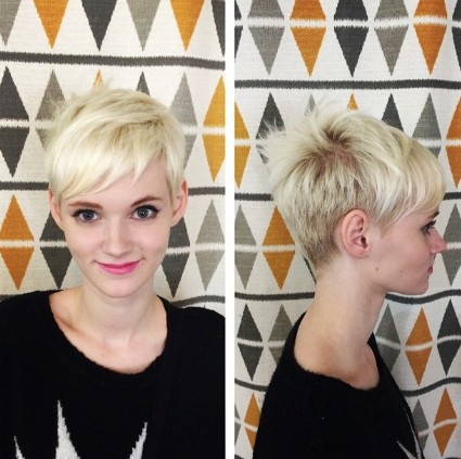 Cute Blonde Pixie Hairstyle - Everyday Hairstyles for Short Hair 2018