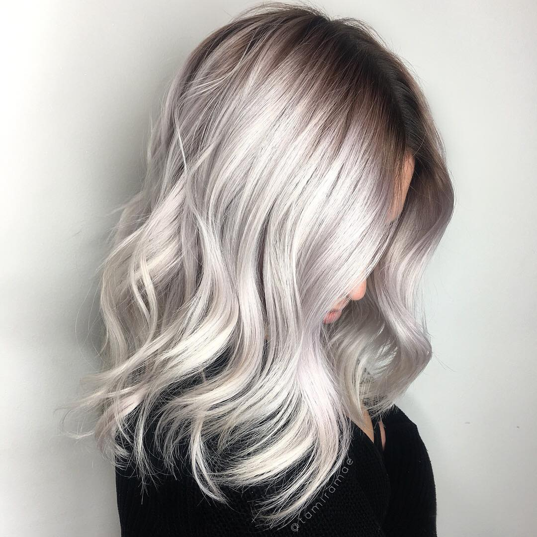 Ombre lange dunkle haare