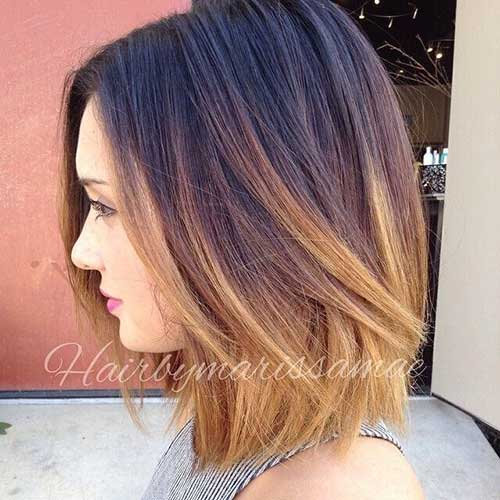 Shoulder Ombre Bob Haircut Ideas