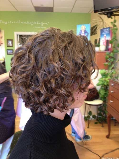 Curly Brown Bob Hairstyles 2018