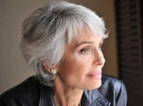 Best Grey Short Hair Cut for Women Over 50