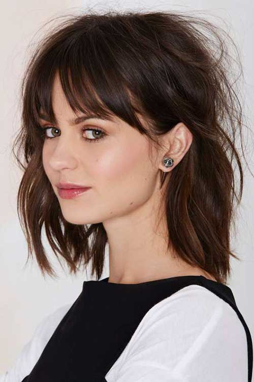Best Cute Short Layered Hair with Bangs