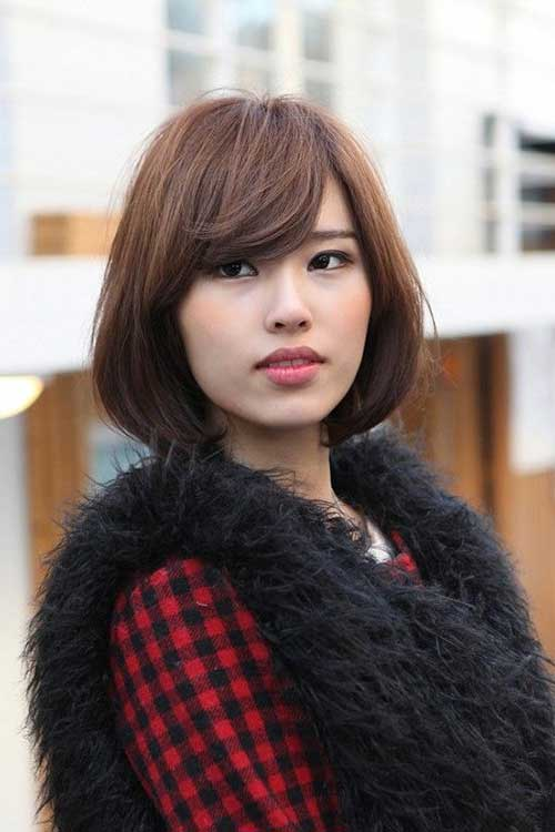 Bangs on Bob Haircut Asian