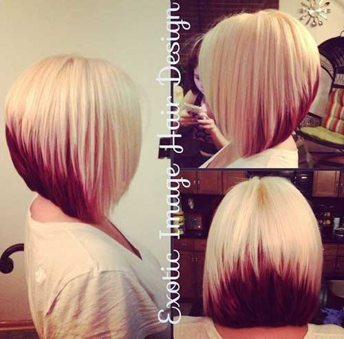 Two Colored Hair Bob Style