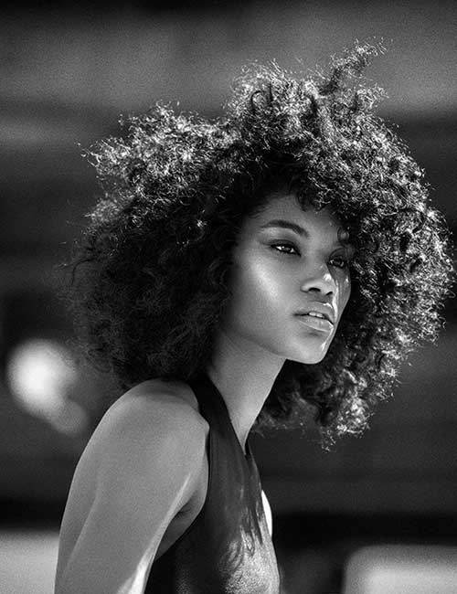 Short Natural Curly Afro