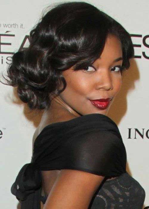 Short Bob Hairstyles with Curls Black Women