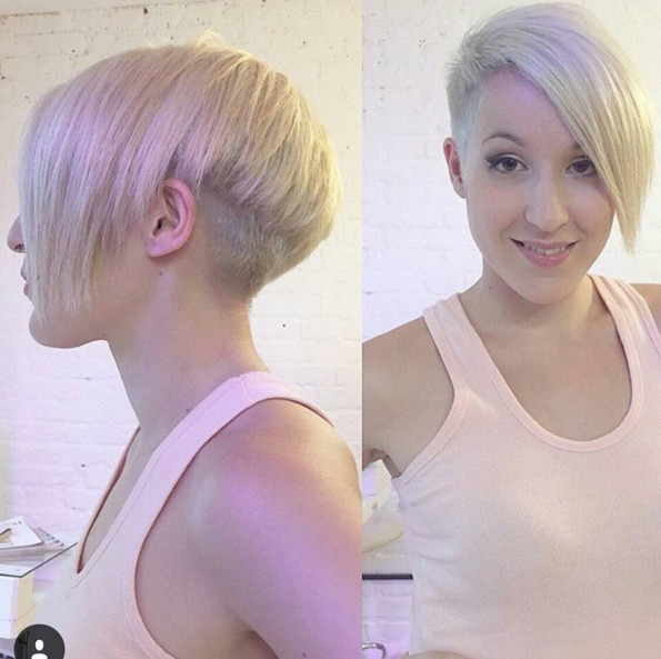Asymmetrical Pixie Hairstyle with Side Long Bangs - Short Straight Haircut 2018