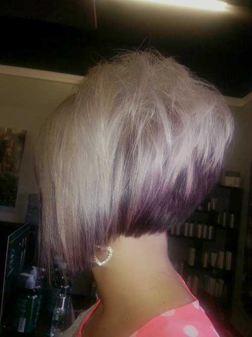 Stacked Bob Fine Hair Side View Look