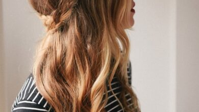 Bild von Süße lange Frisuren: Half Down French Braid