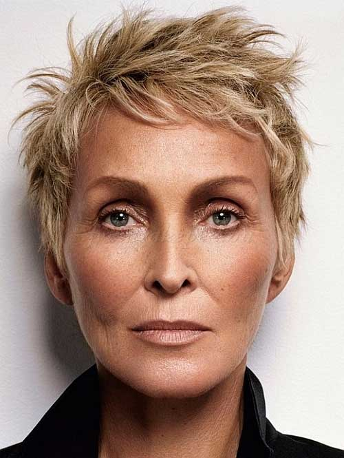 Spiky Pixie Hairstyles for Women Over 60