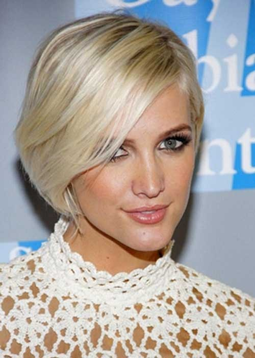 Best Short Platinum Bob for Long Face