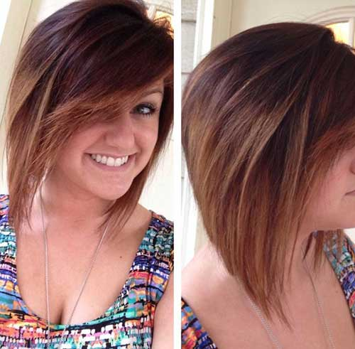 Ombre Reverse Bob Hairstyle