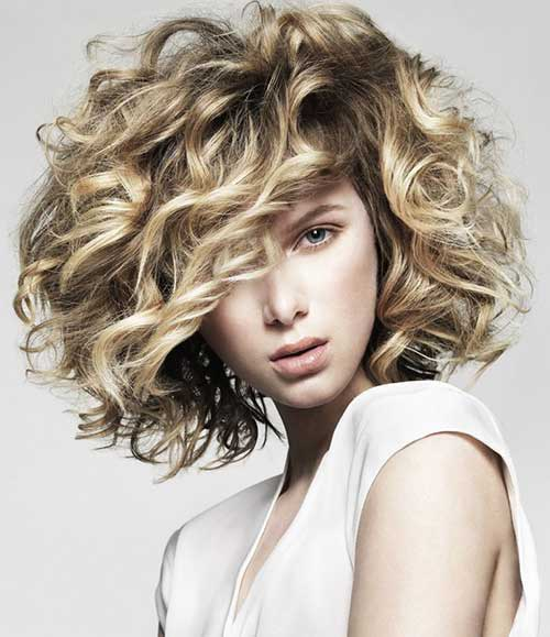 Short Curly Hair Styles-14