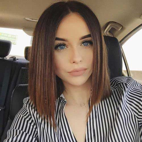 Long Beautiful Line Bob Hairstyles 2018