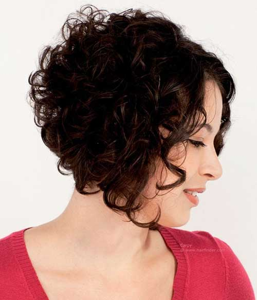Short Inverted Curly Bob Hairstyles 2018