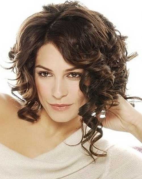 Curly Layered Bob Hairstyles 2018-2018