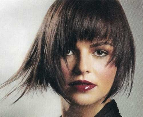Razored Cut Dark Bob Hairstyles
