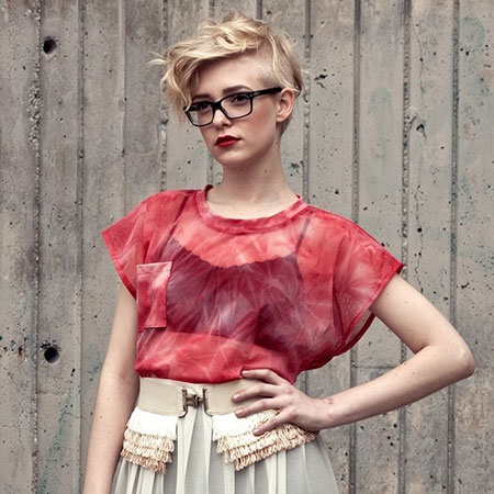 Blonde Short Trendy Hairstyles
