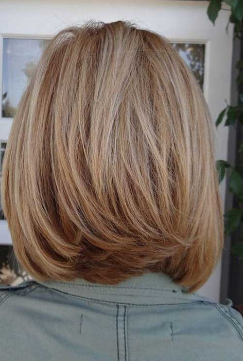 Medium Layered Bob Back View 2018