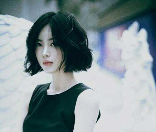 Dark Short Bob Hairstyles Asian