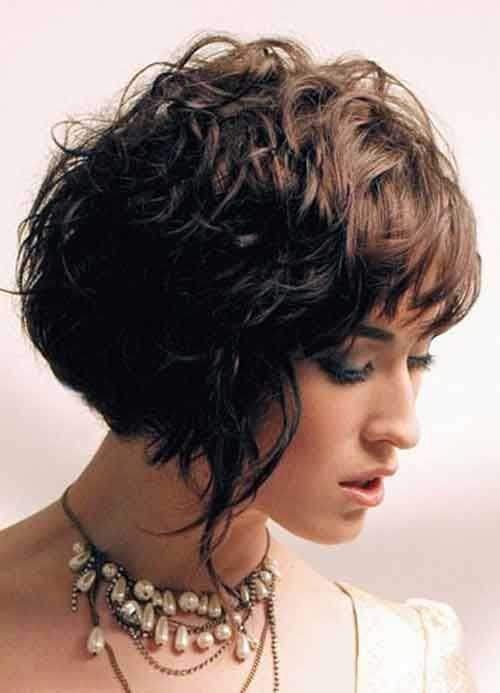 Short Bob Haircut for Thick Wavy Hair Ideas