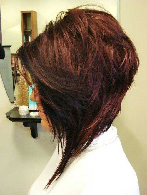 Layered Angled Bob Hairstyles Pictures